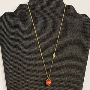 Juicy Couture Gold Rhinestone Strawberry Necklace